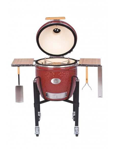 BARBECUE MONOLITH CLASSIC PRO-SERIE ROUGE +CHARIOT