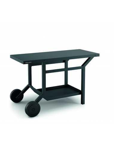 TABLE ROULANTE ACIER GRIS ANTHRACITE POUR PLANCHA